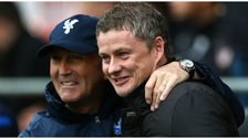 Crystal Palace manager Tony Pulis with Cardiff manager Ole Gunnar Solskjaer