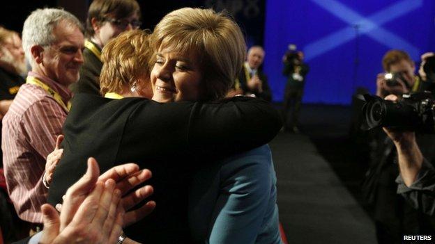 Sturgeon and mother Joan