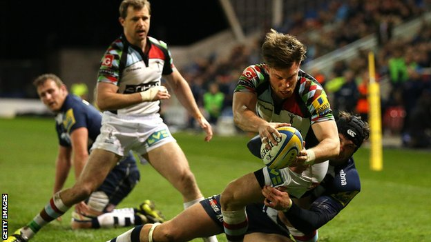Sam Smith scores for Harlequins