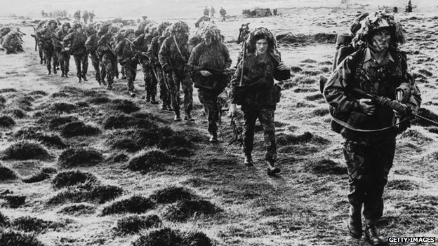 British forces in the Falklands