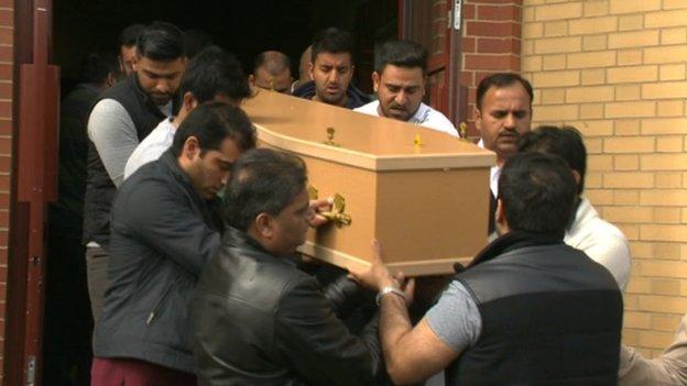 Choudhry Zishan funeral