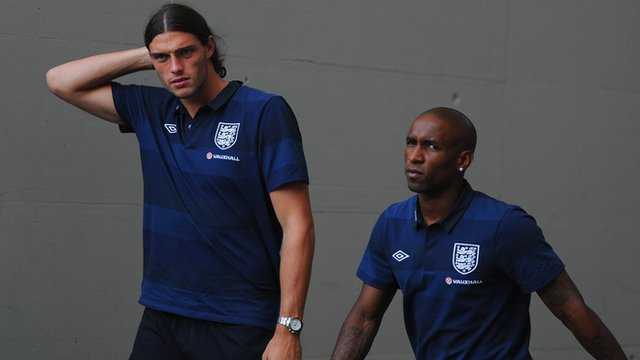 Andy Carroll and Jermain Defoe