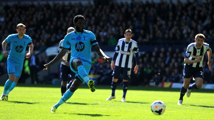 Adebayor's penalty miss vs West Brom