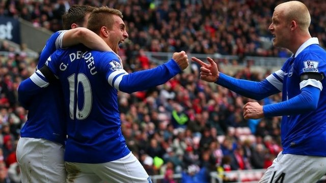 Everton move into the top four with a 1-0 win over Sunderland