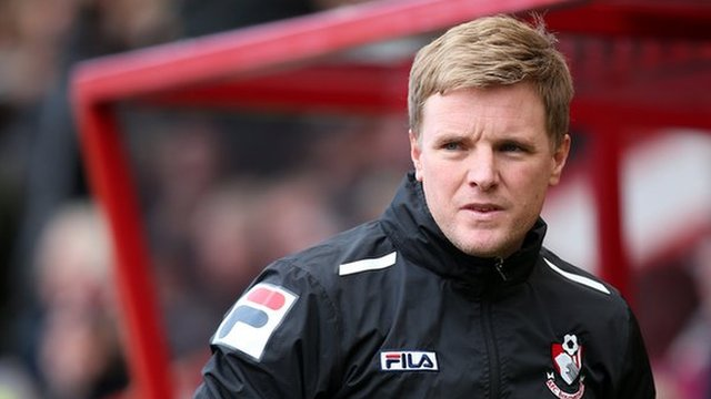 Bournemouth manager Eddie Howe