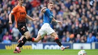 Dean Shiels missed a glorious chance to put Rangers ahead