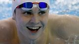 Ross Murdoch smiles after victory in the men's 100m breaststroke final