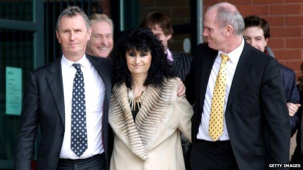 Nigel Evans leaving court