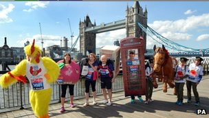 Photocall at Tower Bridge earlier.