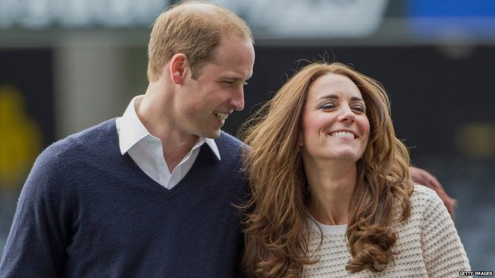 The duke smiles at his wife as they walk through the Forsyth Barr Stadium in Dunedin