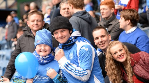 St Johnstone fans at Ibrox