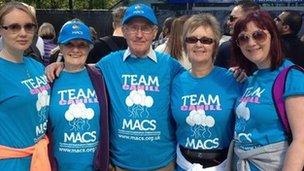 Marathon supporters