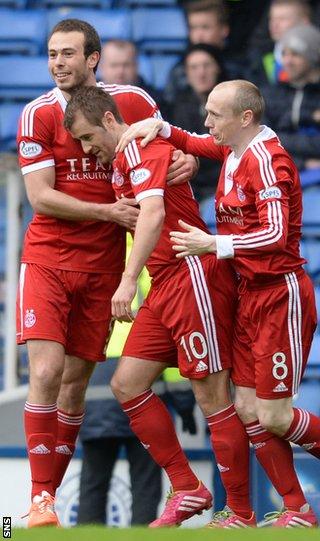 Aberdeen hail goalscorer Niall McGinn