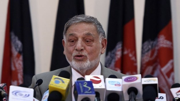 Ahmad Yousuf Nouristani, chairman of the Independent Election Commission, Afghanistan, 13 April, 2014