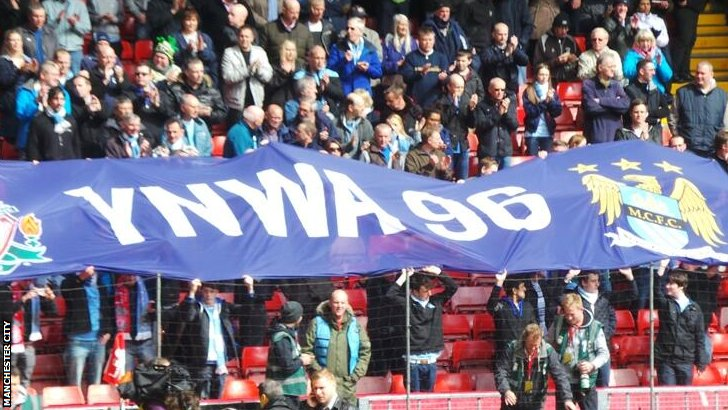Manchester City fans at Anfield