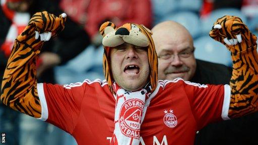 Aberdeen fan at Ibrox