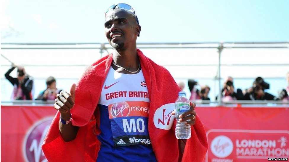 Mo Farah after the London Marathon