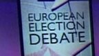 European election debate graphic