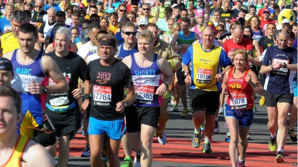 Runners in the London Marathon.