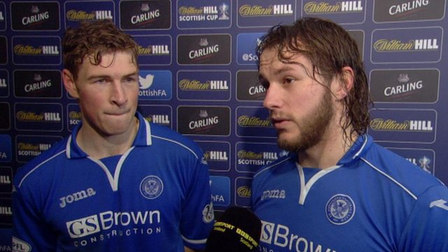 St Johnstone's David Wotherspoon (left) and Stevie May