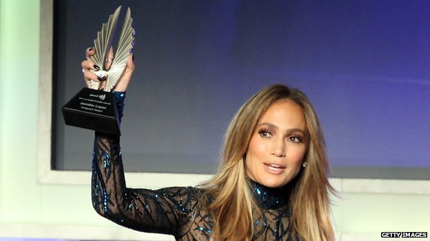 Jennifer Lopez honoured at gay awards