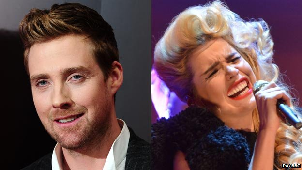 Ricky Wilson and Paloma Faith