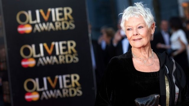 Dame Judi Dench on red carpet