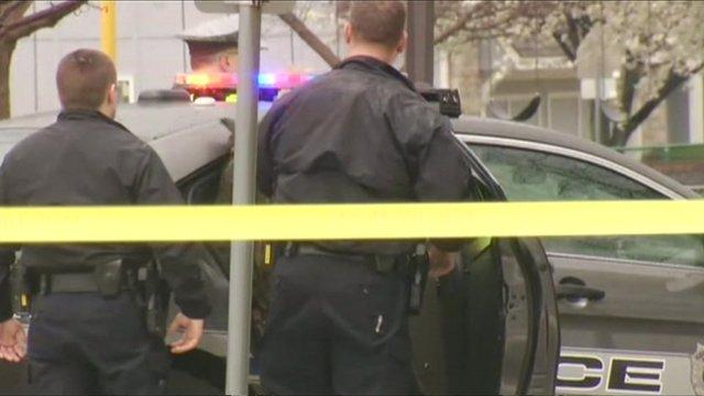Police at Kansas City shooting