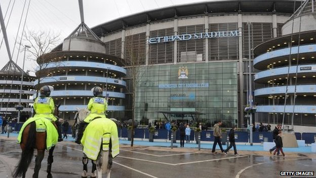 Manchester City Etihad stadium