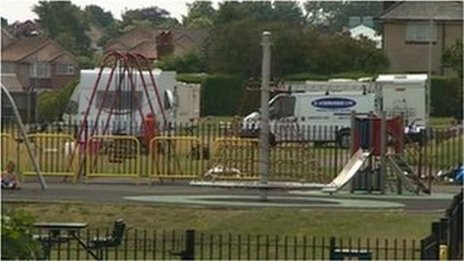 Illegal travellers site set up in Poole in August 2013
