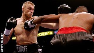 Andrew Flintoff boxing