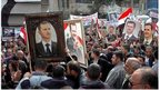Pro-government demonstration in Damascus - picture from Sana news agency  (03/04/14)
