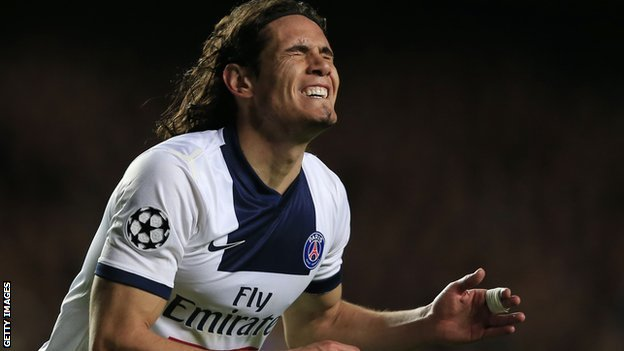 Paris St-Germain's Edinson Cavani