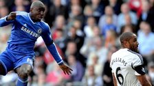 Chelsea's Demba Ba and Swansea's Ashley Williams