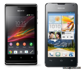 Sony Xperia E and Huawei Ascend Y300