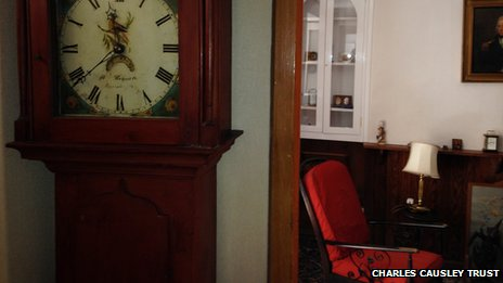 Inside Charles Causley's home
