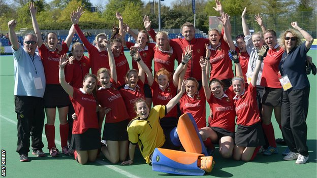 Holcombe celebrate gaining Premier Division status