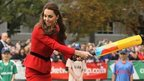 Duchess of Cambridge with cricket bat