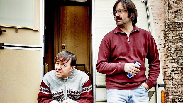 Ricky Gervais and David Earle