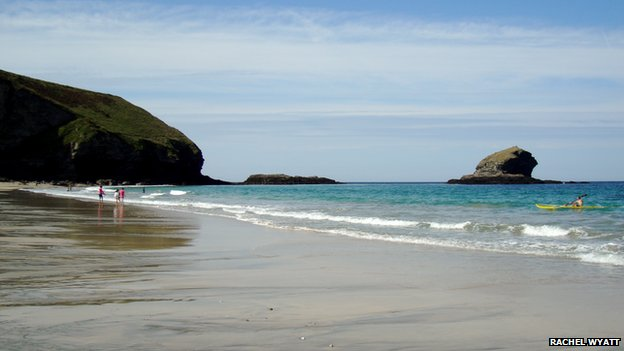 Portreath beach in Cornwall
