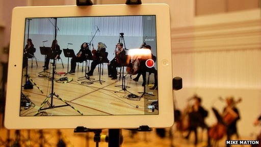 iPad used to record orchestra