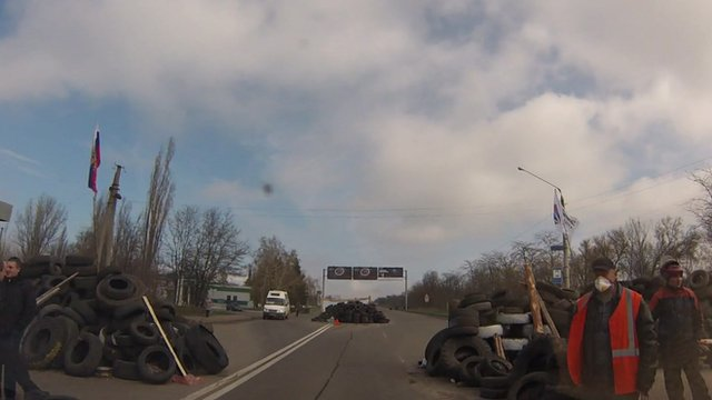 Ukraine roadblock