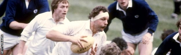Bill Beaumont playing against Scotland