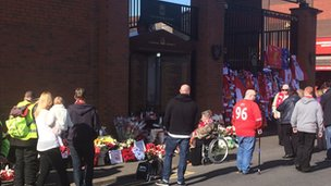 The scene outside Anfield