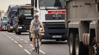 Cyclist/lorries in London