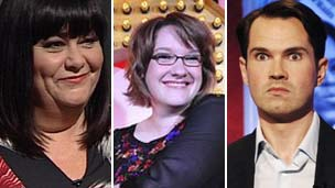 Dawn French, Sarah Millican and Jimmy Carr
