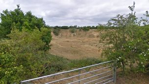 Quarry on Back Lane, Badwell Ash via Google
