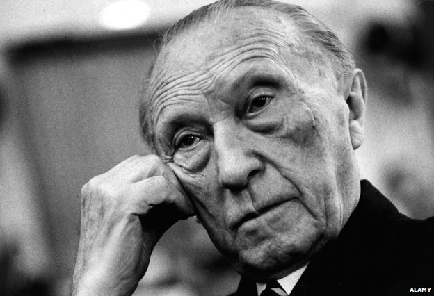 German chancellor Konrad Adenauer photographed in 1967