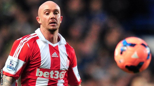 Stoke City midfielder Stephen Ireland