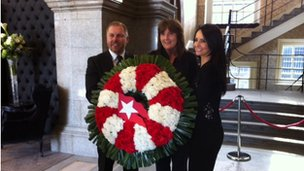 Titanic wreath laying ceremony